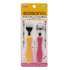 EDISON 不鏽鋼叉匙組-黃+橙