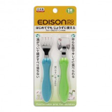 EDISON 不鏽鋼叉匙組-藍+綠