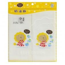 奶油獅 紗布素色印花澡巾2入