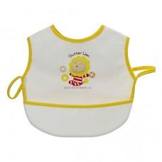 奶油獅 超防水接漏餐用圍兜-黃色