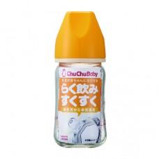 chuchubaby 經典寬口徑玻璃奶瓶-160ml