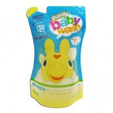 日本 Rody泡沫式嬰兒全身沐浴乳補充包-350ml
