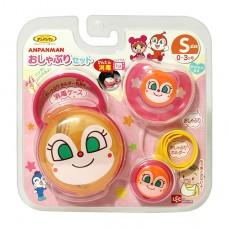 日本 紅精靈奶嘴+奶嘴鍊+收納盒(S)