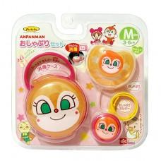日本 紅精靈奶嘴+奶嘴鍊+收納盒(M)