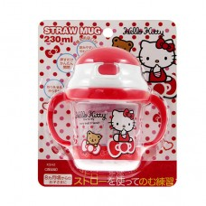 日本 Hello Kitty彈跳吸管練習杯