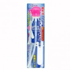 日本 攜帶式寶特瓶彈跳吸管-粉色