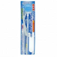 日本 攜帶式寶特瓶彈跳吸管-水色