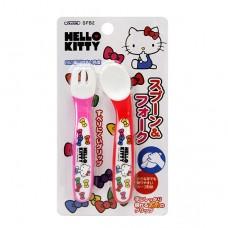 日本 Hello Kitty彎角易握叉匙組