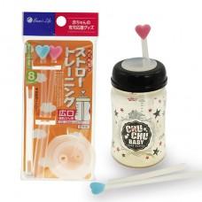 日本 卡哇依奶瓶吸管-寬口徑