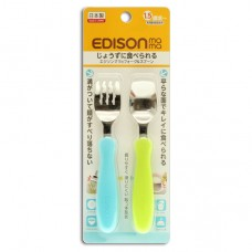 EDISON mama 不鏽鋼叉匙組-綠/水