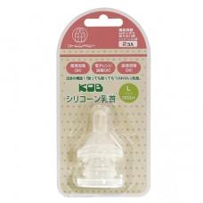 KOB 標準仿乳形奶嘴L+孔-2入
