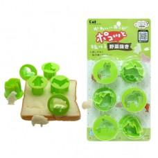 日本 造型切割模  蔬菜 吐司