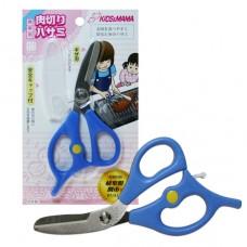 日本 可拆洗攜帶式食物剪刀-藍色
