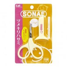 貝印 嬰兒圓頭安全剪刀+蓋
