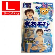 滿意寶寶 Moony 玩水褲/游泳尿褲/戲水褲-男L