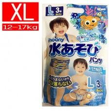 滿意寶寶 Moony 玩水褲/游泳尿褲/戲水褲-男XL