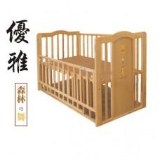 日本 維尼原木嬰兒床