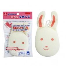 日本 敏感肌膚洗澡海棉-小兔