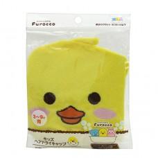 日本 頭髮速乾吸水帽-黃鴨