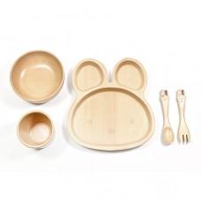 山毛櫸兒童餐具禮盒-兔兔