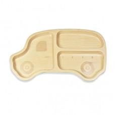 山毛櫸兒童餐盤-叭叭車