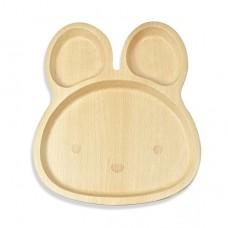 山毛櫸兒童餐盤-兔兔