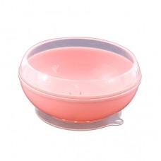 帕緹塔 矽膠強力吸盤碗-粉色