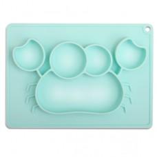 元氣寶寶 螃蟹矽膠止滑餐盤-綠色
