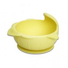 元氣寶寶 鯊魚矽膠強力吸盤碗-黃色