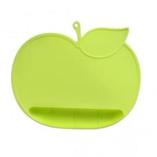 元氣寶寶 蘋果矽膠防落止滑餐墊-綠色