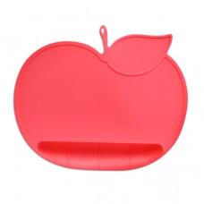 元氣寶寶 蘋果矽膠防落止滑餐墊-紅色