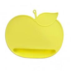 元氣寶寶 蘋果矽膠防落止滑餐墊-黃色