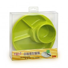 元氣寶寶 分格便利餐盤-綠色