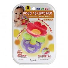 3D立體小花搖鈴固齒玩具