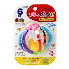3D立體六柱搖鈴固齒玩具