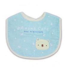 日本 米米熊毛巾布圍兜