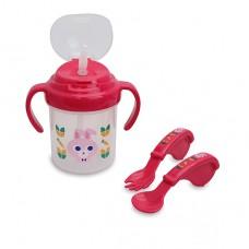 小兔練習杯+訓練叉匙 禮盒
