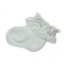 日本 蕾絲新生兒短襪