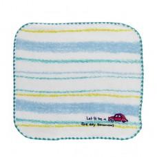純棉寶寶小方巾(紗布+毛巾)-汽車(16x16cm)