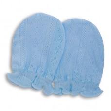 日本 嬰兒締花護手套-藍色