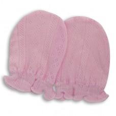 日本 嬰兒締花護手套-粉色