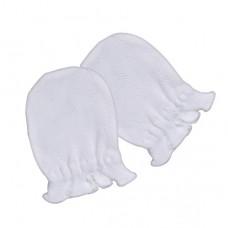 日本 嬰兒締花護手套-白色