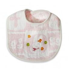 日本 軟綿小兔圍兜-粉色
