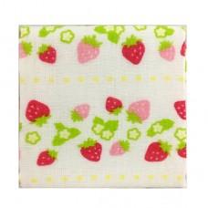 日本 雙層(紗布+毛巾)手帕-草莓