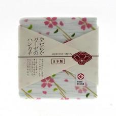 日本 雙層(紗布+毛巾)手帕-初春