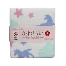 日本 雙層(紗布+毛巾)手帕-天馬行空
