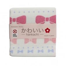 日本 雙層(紗布+毛巾)手帕-蝴蝶結