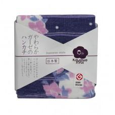 日本 雙層(紗布+毛巾)手帕-花藍