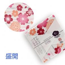 日本 雙層(紗布+毛巾)手帕-盛開