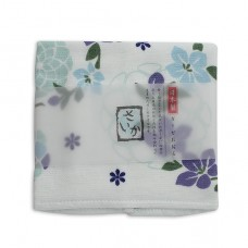 日本 雙層(紗布+毛巾)厚質手帕-花冠